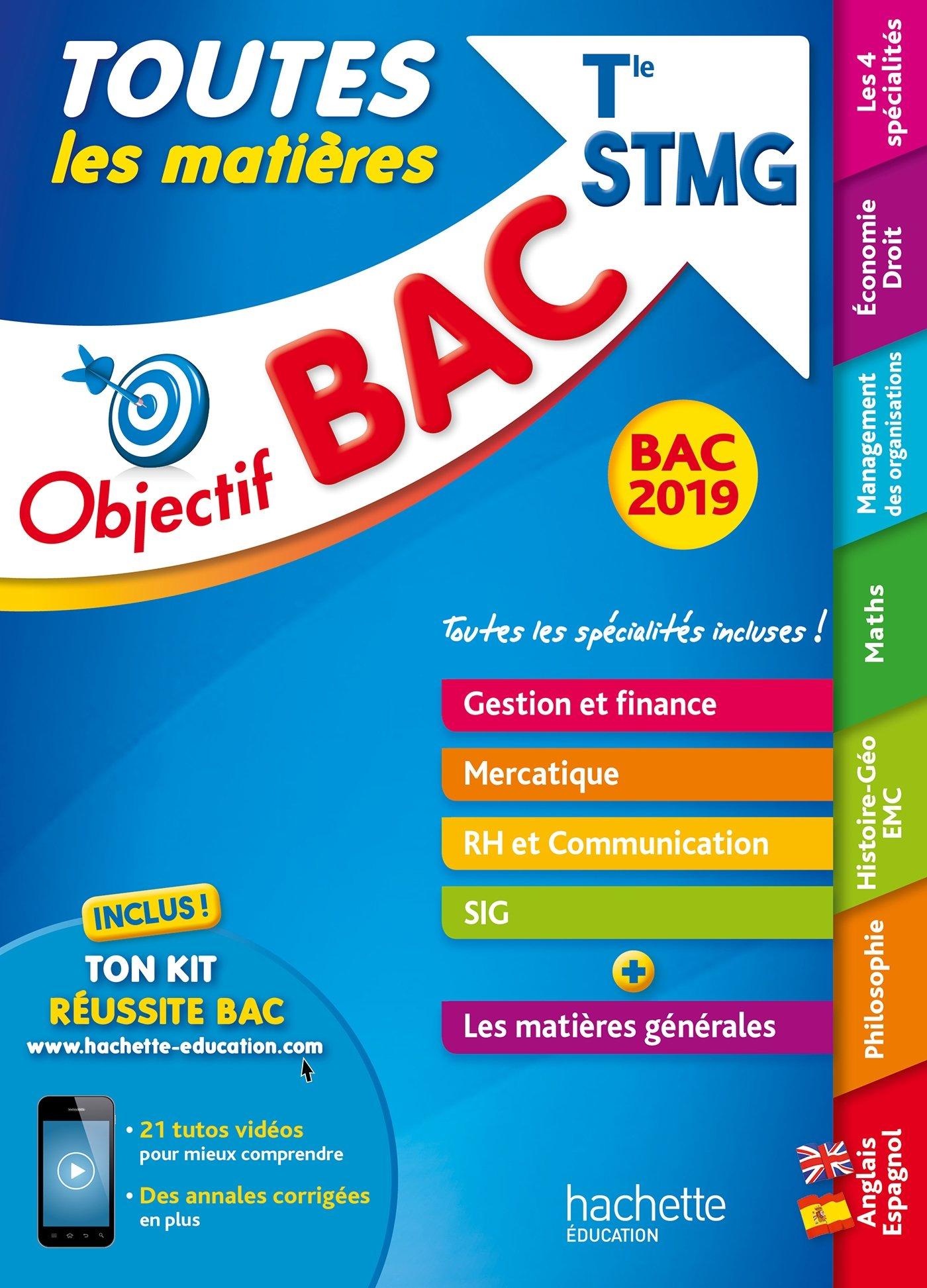 Objectif Bac 2019 Toutes les matières Tle STMG