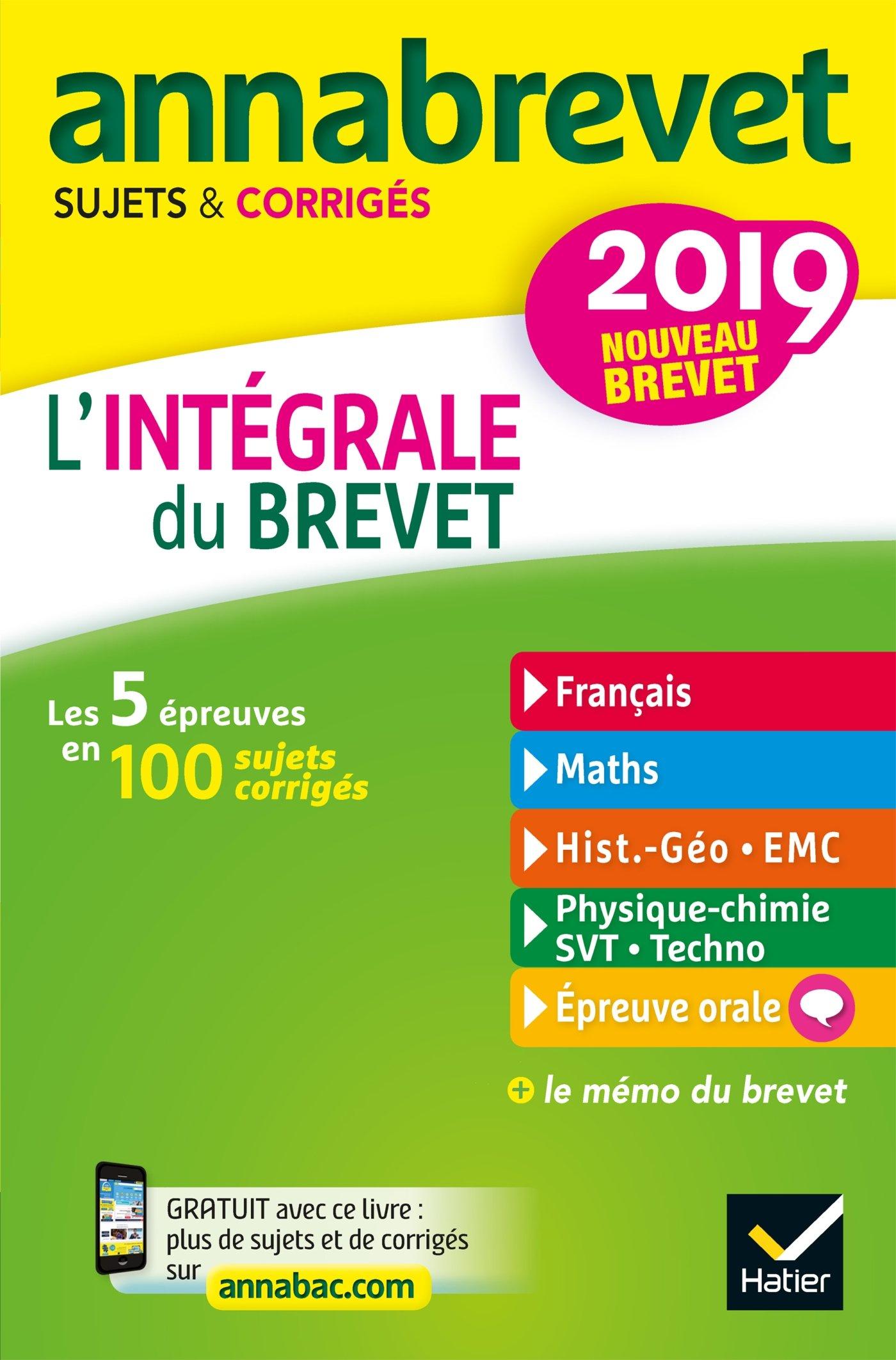 Annales Annabrevet 2019
