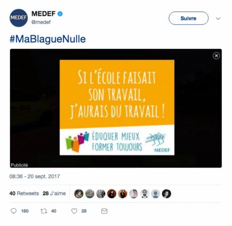 Bannière polémique MEDEF