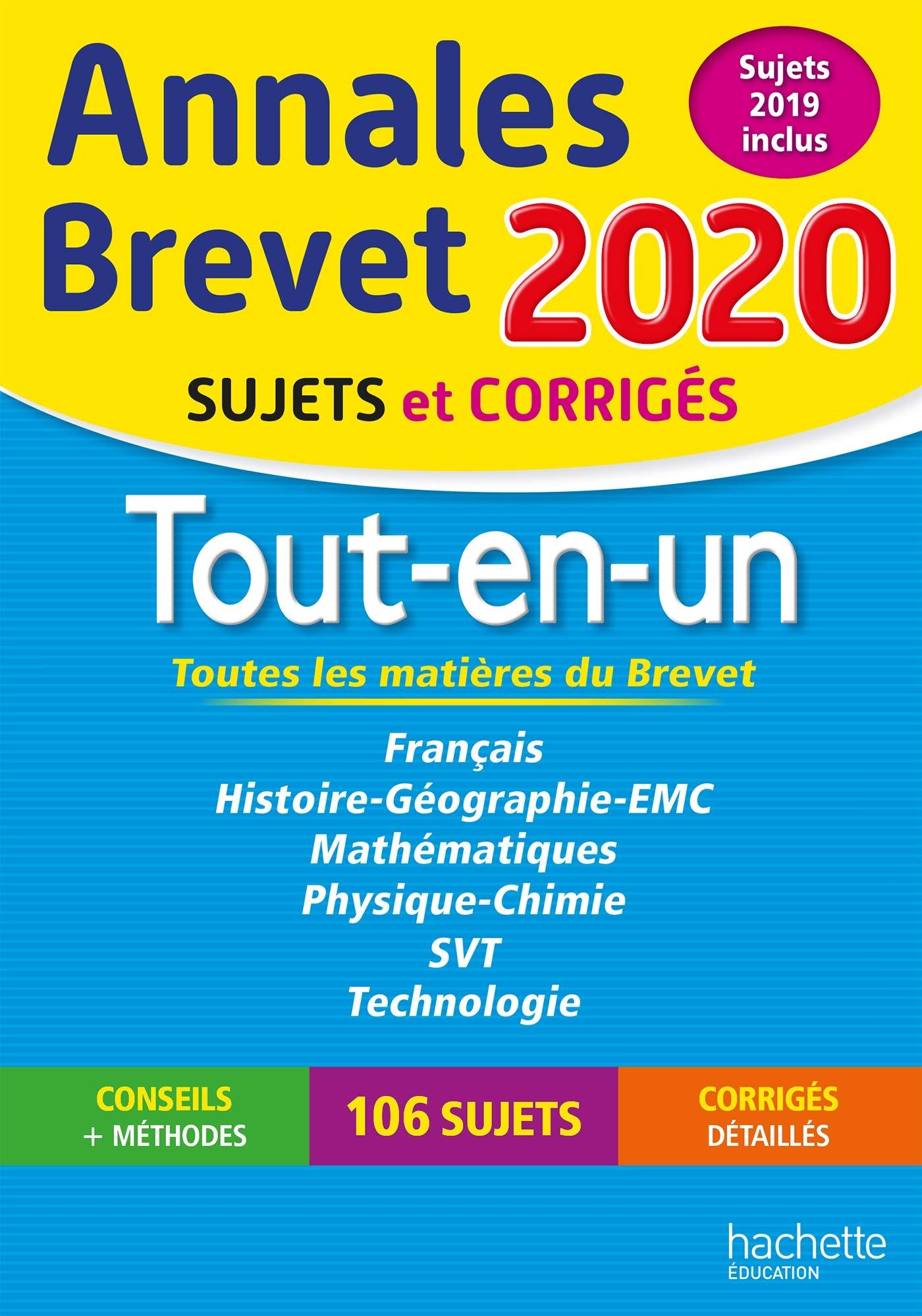 nnales Brevet 2020 Tout-en-Un