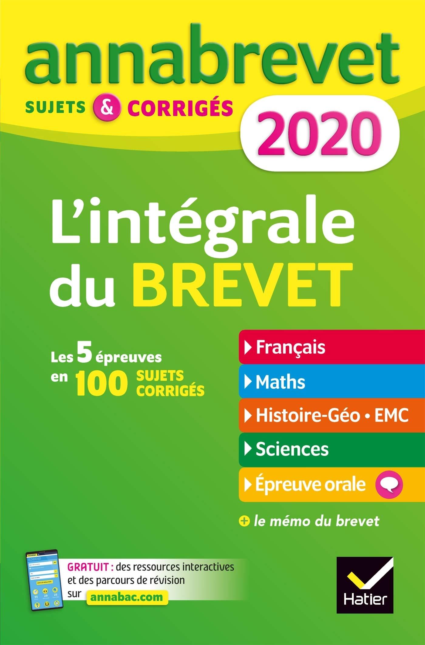 Annales Annabrevet 2020